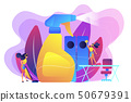 Commercial cleaning concept vector illustration. 50679391