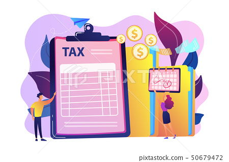 Tax form concept vector illustration. 50679472