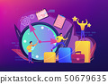 Self management concept vector illustration. 50679635