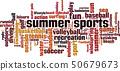 Summer sports word cloud 50679673