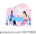 Romantic Dinner with Wine in Restaurant or at Home 50679888