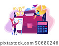 Accounting concept vector illustration. 50680246