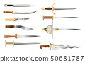 Daggers - a set of cold weapons of different countries and epochs 50681787