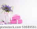 Happy mothers day concept on white wooden table. 50689561