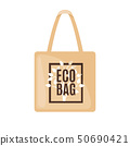 Eco Bag icon in flat style Isolated on white. 50690421