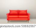 紅色 紅 沙發 50692067