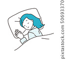 一個女人在睡覺 50693370