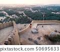 woman, fortress, sunset 50695633