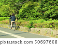 骑自行车的女性大学生 50697608