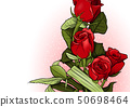Red Roses Bouquet Greeting Card 50698464