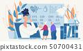 Online Medical Consultation for Old People Banner 50700431
