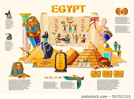 Ancient Egypt infographic travel concept 50702328