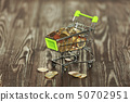 Trolley, coins,  shopping basket, purchase of 50702951