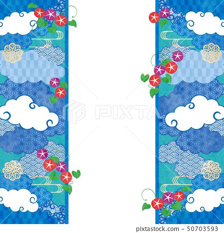 배경 프레임 - 수화 무늬, 나팔꽃 4 테크 50703593
