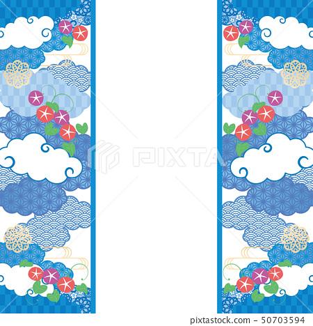 배경 프레임 - 수화 무늬, 나팔꽃 5 50703594