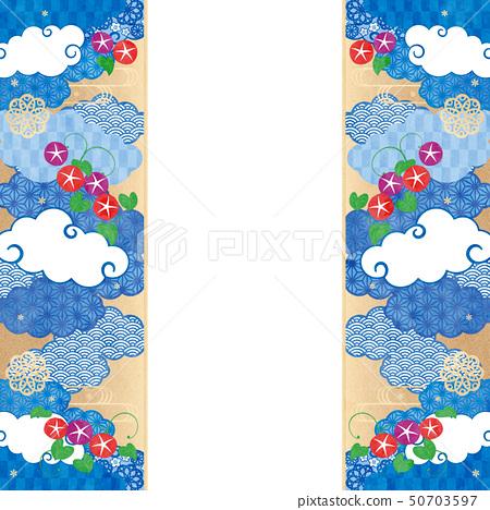 배경 프레임 - 수화 무늬, 나팔꽃 6 테크닉 50703597