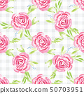Hand-painted watercolor floral rose Pattern 50703951