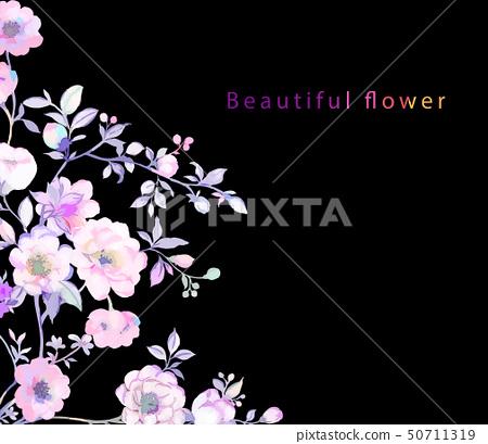 우아한 나뭇 가지와 꽃 그림 50711319