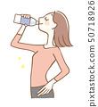 女人喝塑料瓶飲料 50718926