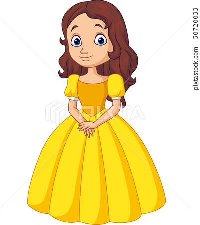 Cute little princess isolated on white background 50720033