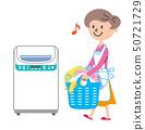 세탁기 주부 일러스트 50721729