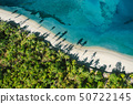 Top down view of tropical landscape 50722145