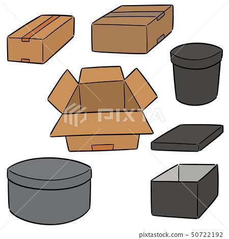 vector set of box 50722192