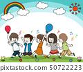 快樂的孩子藍天 50722223