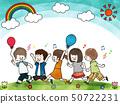 快樂的孩子藍天 50722231