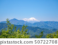 Mt. Fuji overlooking from Takao San mountain top view 50722708