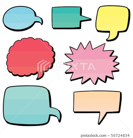 vector set of speech bubbles 50724834