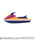 Water Jet Ski Scooter Icon 50725451