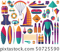 Beach Water Sports Icons Set 50725590