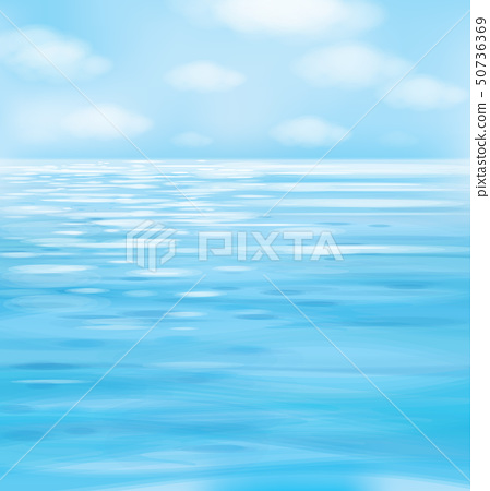 Vector blue  seascape background. 50736369