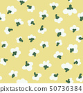 seamless pattern with white flowers.botany.doodle 50736384