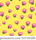 seamless pattern with pink flowers.botany.doodle 50736385