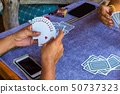 Free time activities with playing cards 50737323