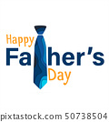 Happy fathers day greeting card. 50738504