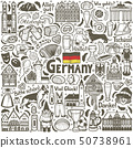 German Symbols Composition in Hand Drawn Style 50738961