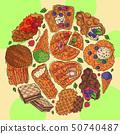 華夫餅 甜點 甜品 50740487