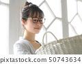 Woman housework laundry 50743634
