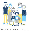 3 세대 가족 4 세트 블루 50744701