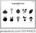 Vegetable icons Solid pack 50744925