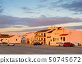Sunset Portugal town  cars parking 50745672