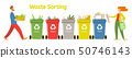 Waste sorting vector illustration with two people  50746143