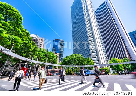 《東京》東京商務區,初夏在西新宿 50748591
