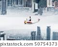 경영인, 사업가, 비행기 50754373