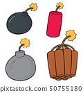 vector set of bomb 50755180