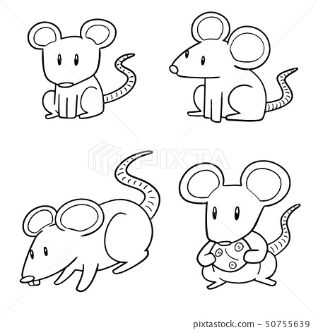 vector set of mouse 50755639