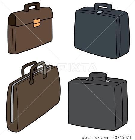 vector set of briefcase 50755671